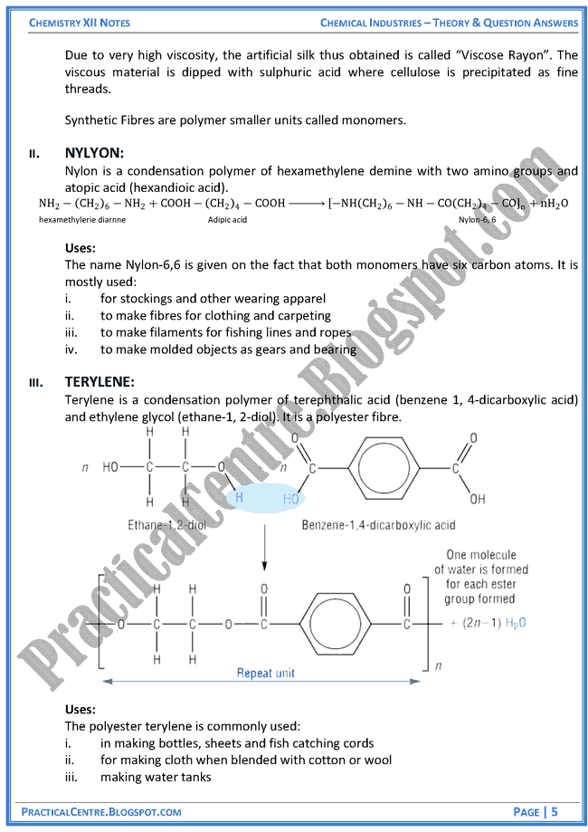 chemical-industries-in-pakistan-theory-and-question-answers-chemistry-12th