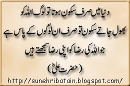sunehre aqwale zareen, achi batain, islamic aqwal