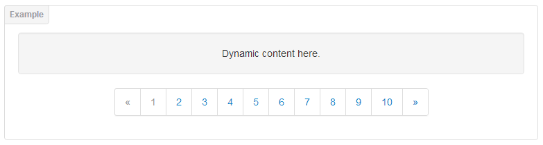 jQuery dynamic pagination simple example