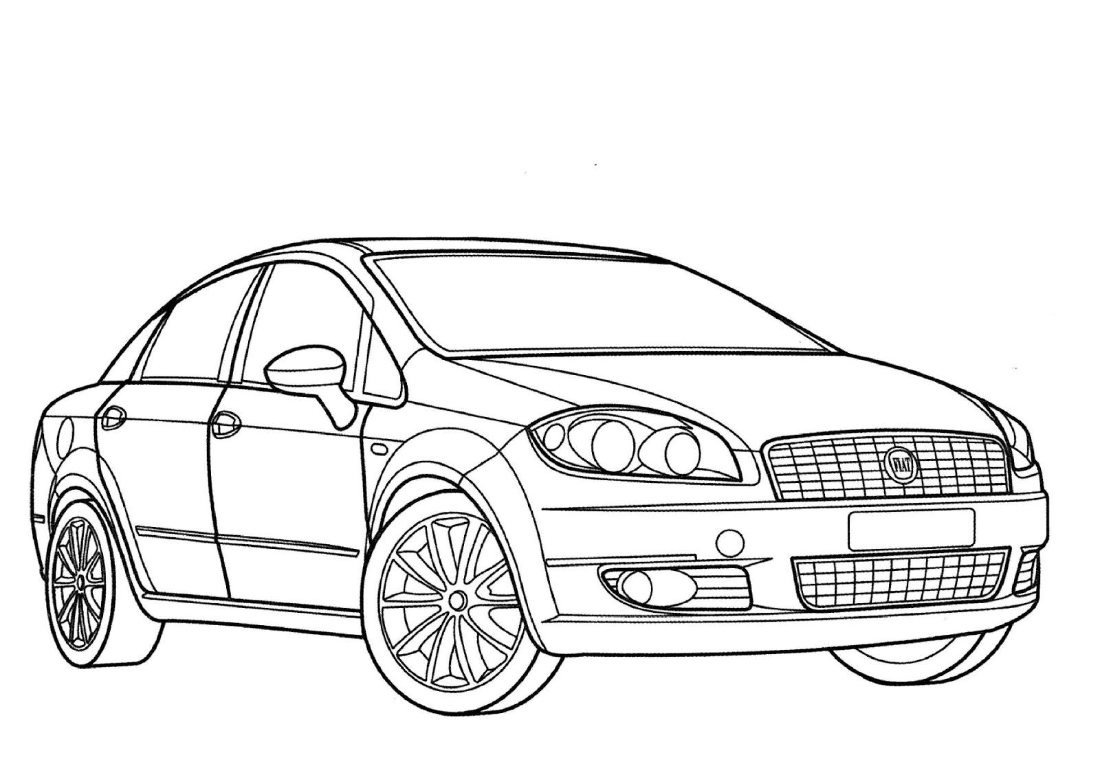 Famoso Páginas Para Colorear De Camiones Y Automóviles Inspiración ...