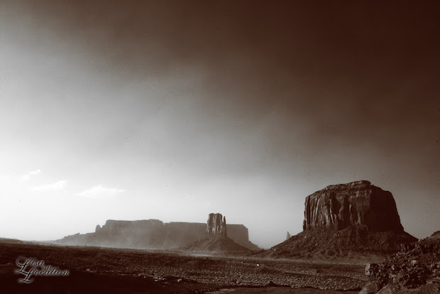 Monument Valley Sandstorm, infrared