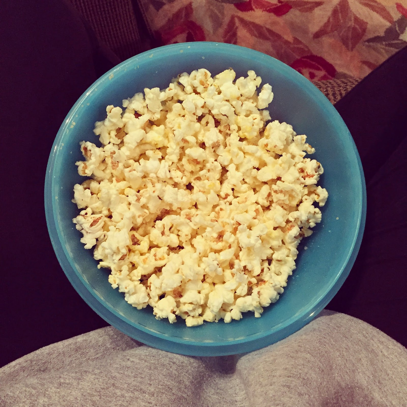 movie snack popcorn with olive oil and parmesan cheese