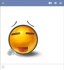 Relieved Emoticon for Facebook