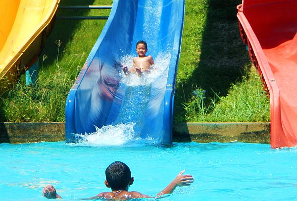 Water slide at Pattaya Park