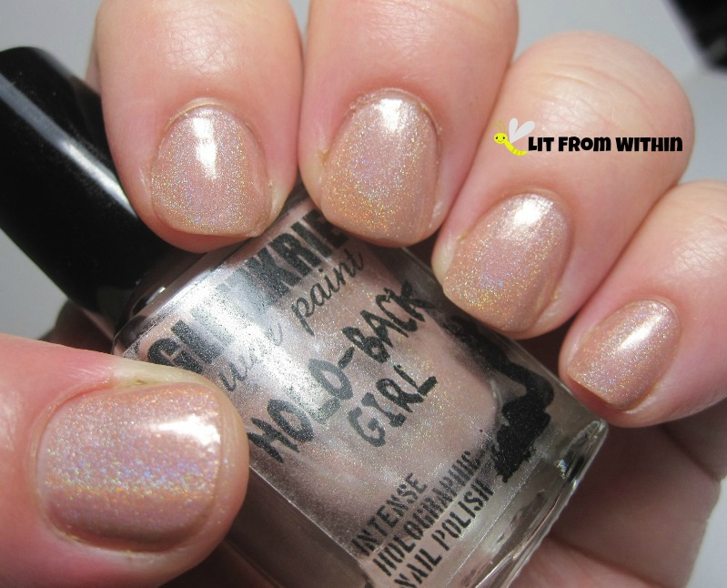 Glitzkrieg War Paint Public Nudity, a lovely nude with a subtle linear holo.