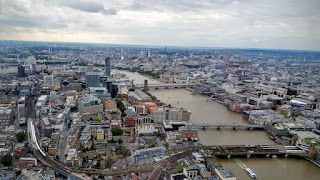 The view across London from The Shard