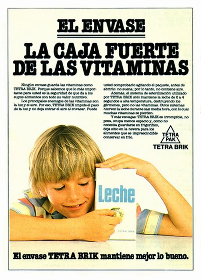 Tetrabrik Publicidad de los años 80