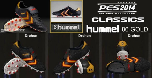 PES 2014 Classic Hummel 86 Gold Football Boots by Ron69