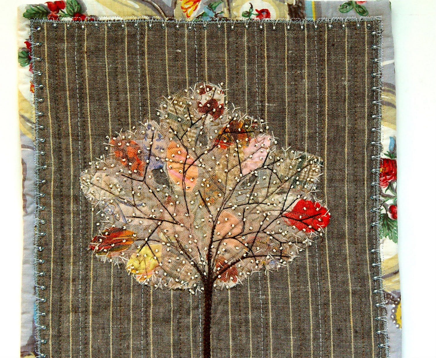 beading on spring tree by bozena wojtaszek