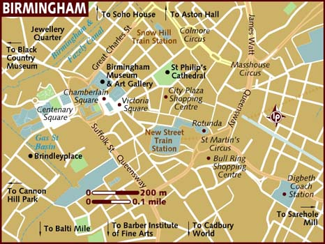 Street Map Of Birmingham City Pictures  Map Of England Cities