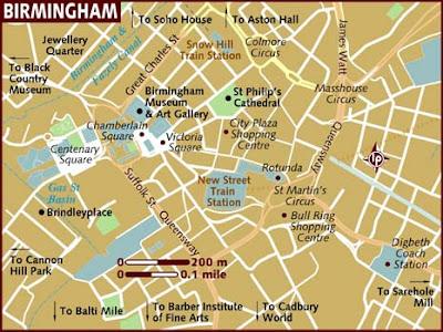 Street Map Birmingham City