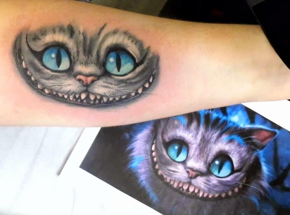 Poppylarousse rennes blog beaut mode lifestyle une dure une vraie une tatou e - Tatouage chat alice au pays des merveilles ...