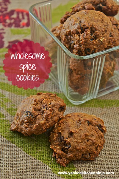 guilt free wholesome spice cookies