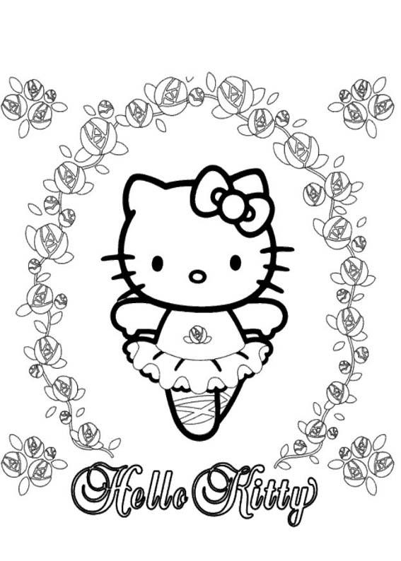 Desenhos Preto e Branco Hello Kitty Para Meninas Colorir