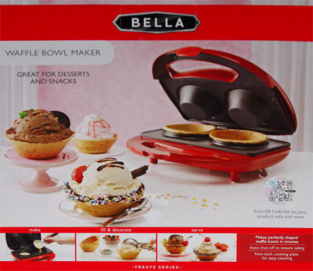 On Second Scoop Ice Cream Reviews Bella Waffle Bowl Maker