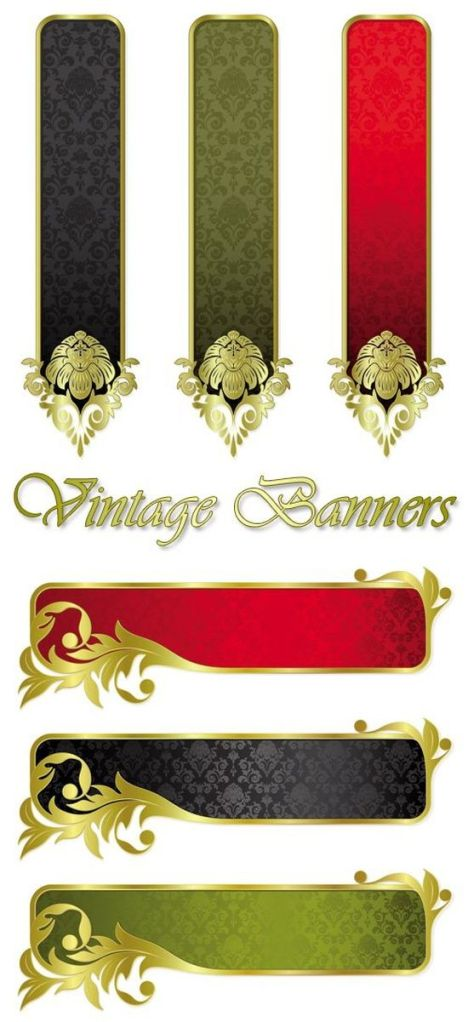 Stock vector - Classical Gorgeous Banner Template