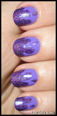 drip manicure with color club pucci-licious and china glaze gamer glam