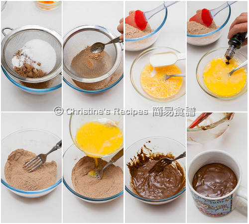 Coffee Chocolate Mug Cake Procedures