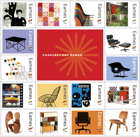 Eames Stamps, June 2008
