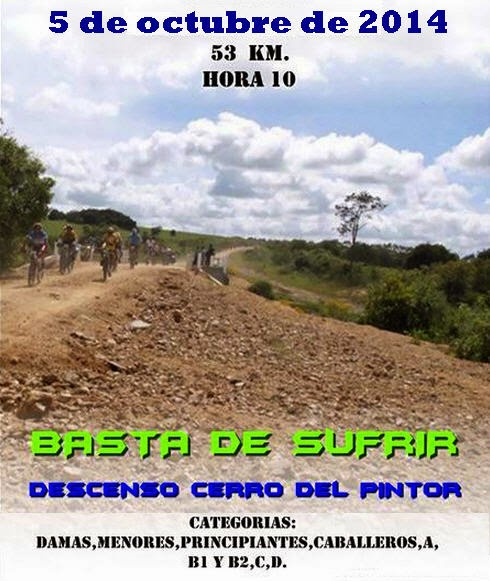 MTB. Descenso del Cerro del pintor (Rocha, 05/oct/2014)
