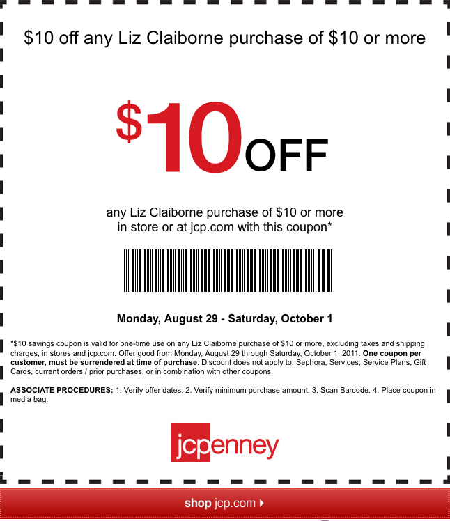 It's just a photo of Bewitching Jcpenney Printable $10 Coupon