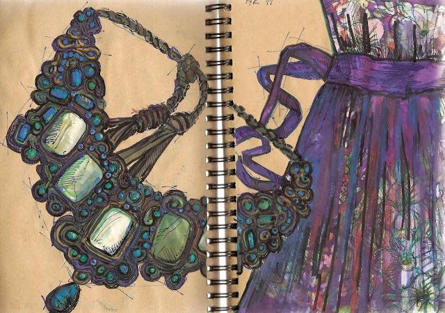 boho etno naszyjnik sutasz biżuteria artystyczna soutache