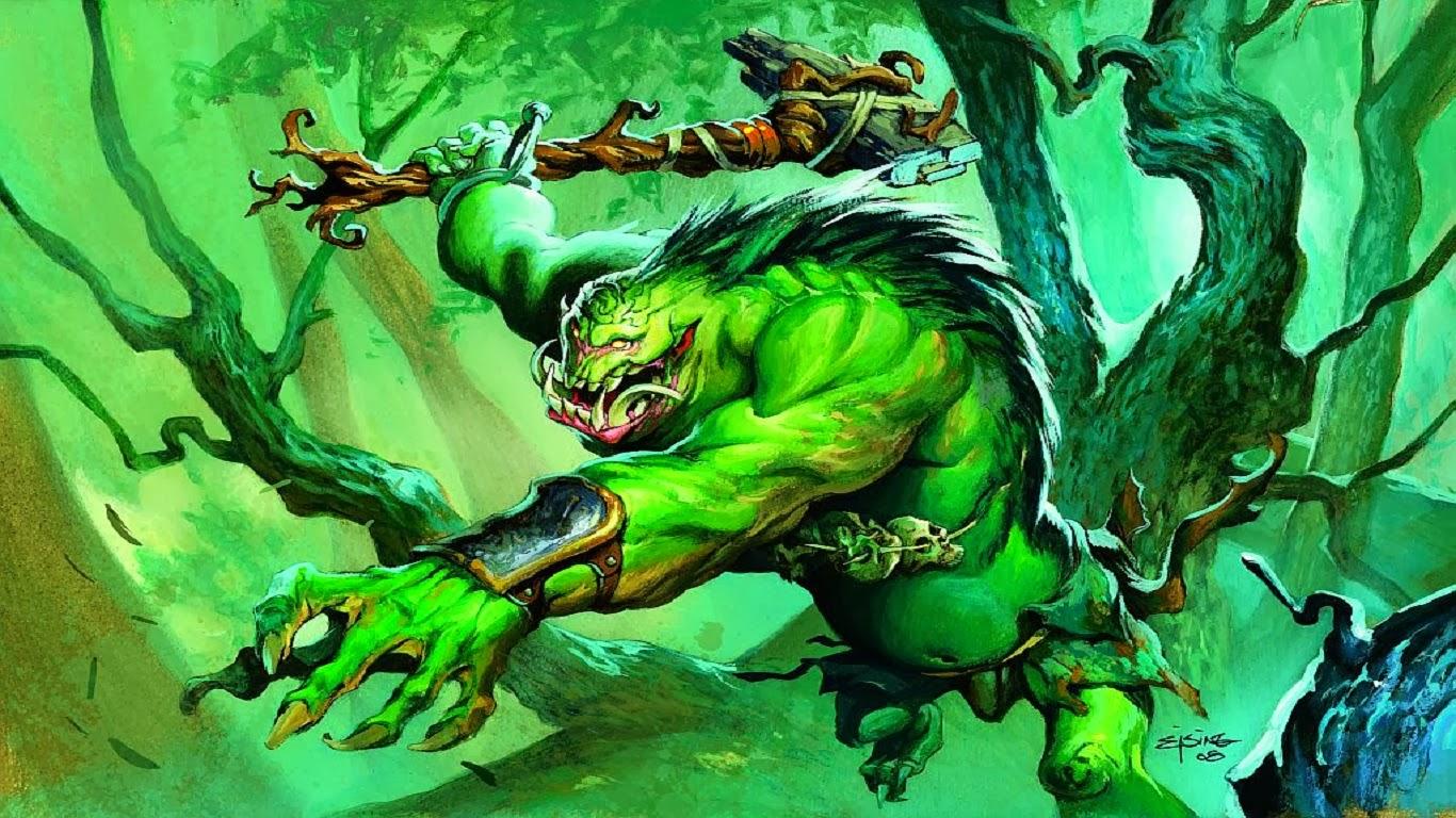 Тролль зеленый с топором