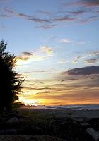 sunset in Berakas Beach