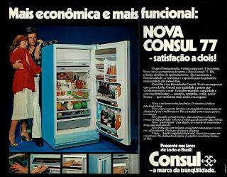 refrigerador Consul; os anos 70; propaganda na década de 70; Brazil in the 70s, história anos 70; Oswaldo Hernandez;