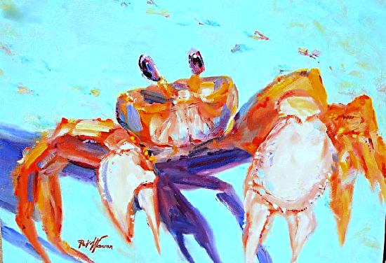 Contemporary artists of georgia crab sea life art for Sea life paintings artists