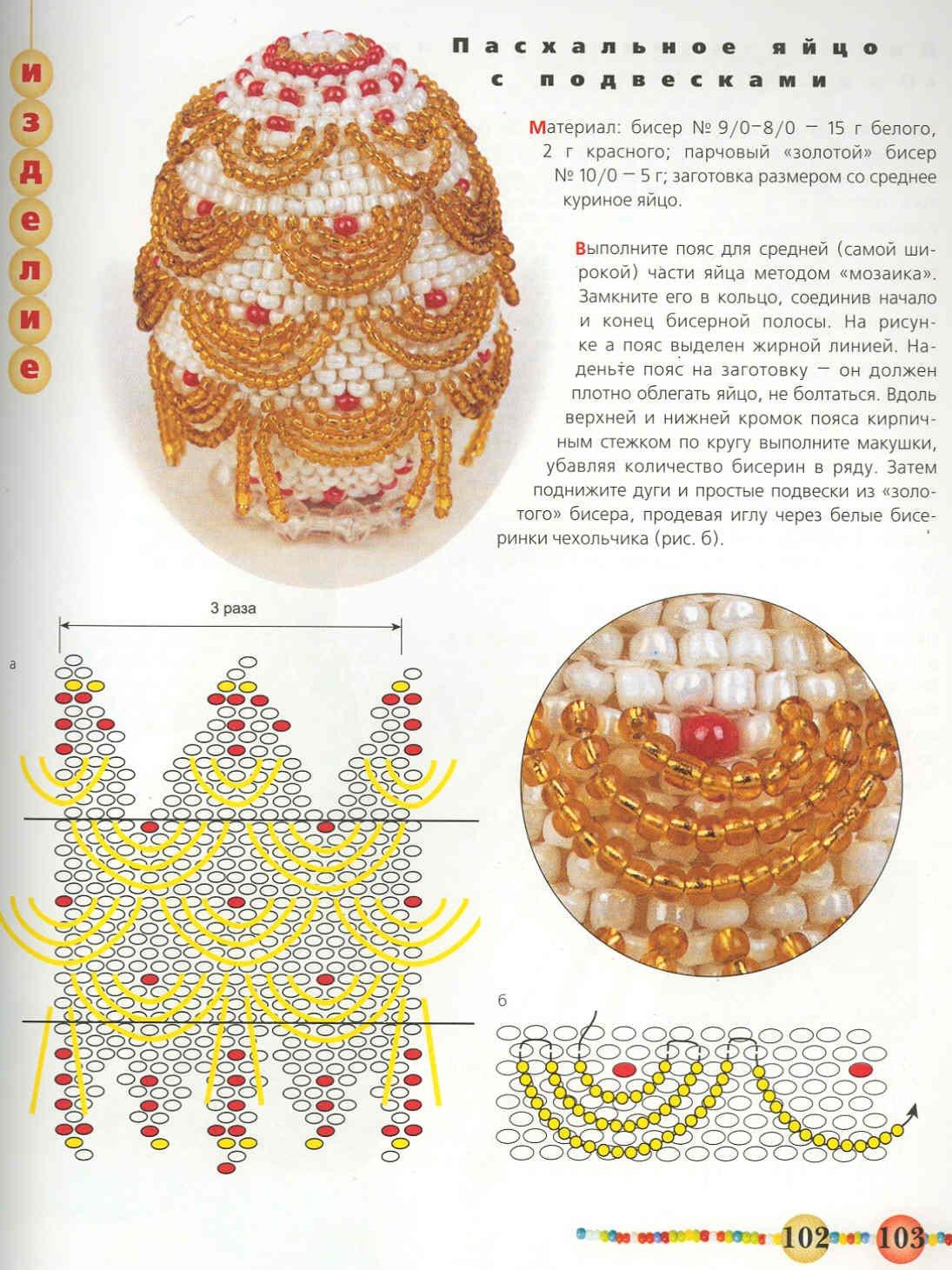 схема церкви из бисера для оплетения яйца
