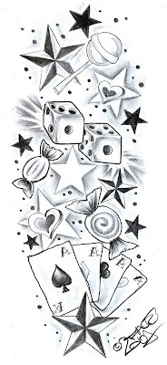 New+school+tattoodesign_sweetscherrystars_by_2face_tattoojpg