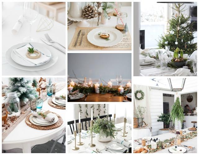 Decoraci n f cil 7 mesas de navidad estilo natural - Decoracion de mesas para navidad ...