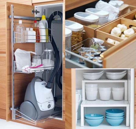 Hogar diez orden en la cocina for Ordenar armarios cocina
