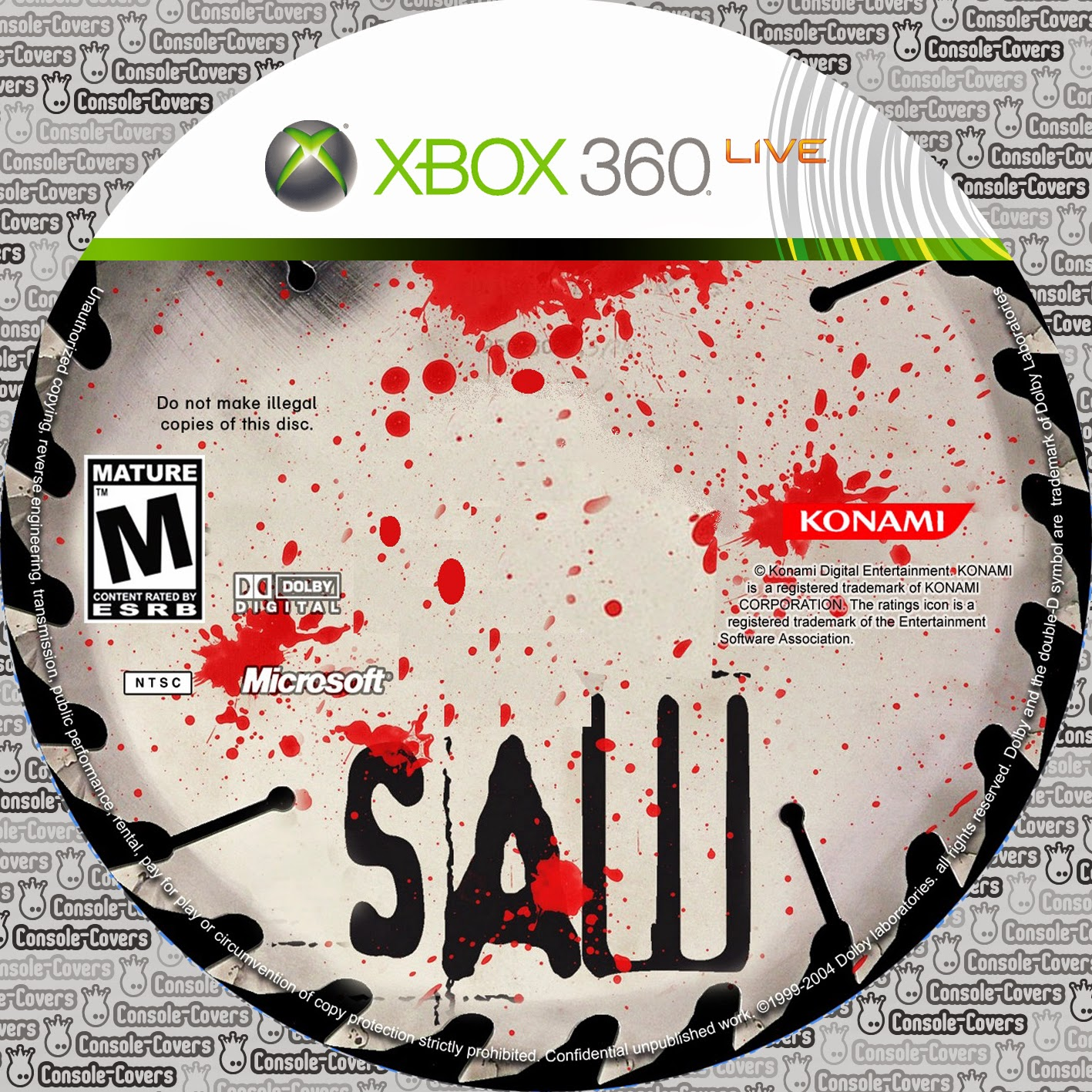 Capa Saw The Video Game XBOX 360