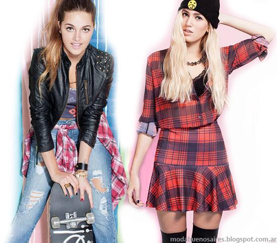Moda Argentina casual juvenil en la ropa de la colección otoño invierno 2014 de Muaa.