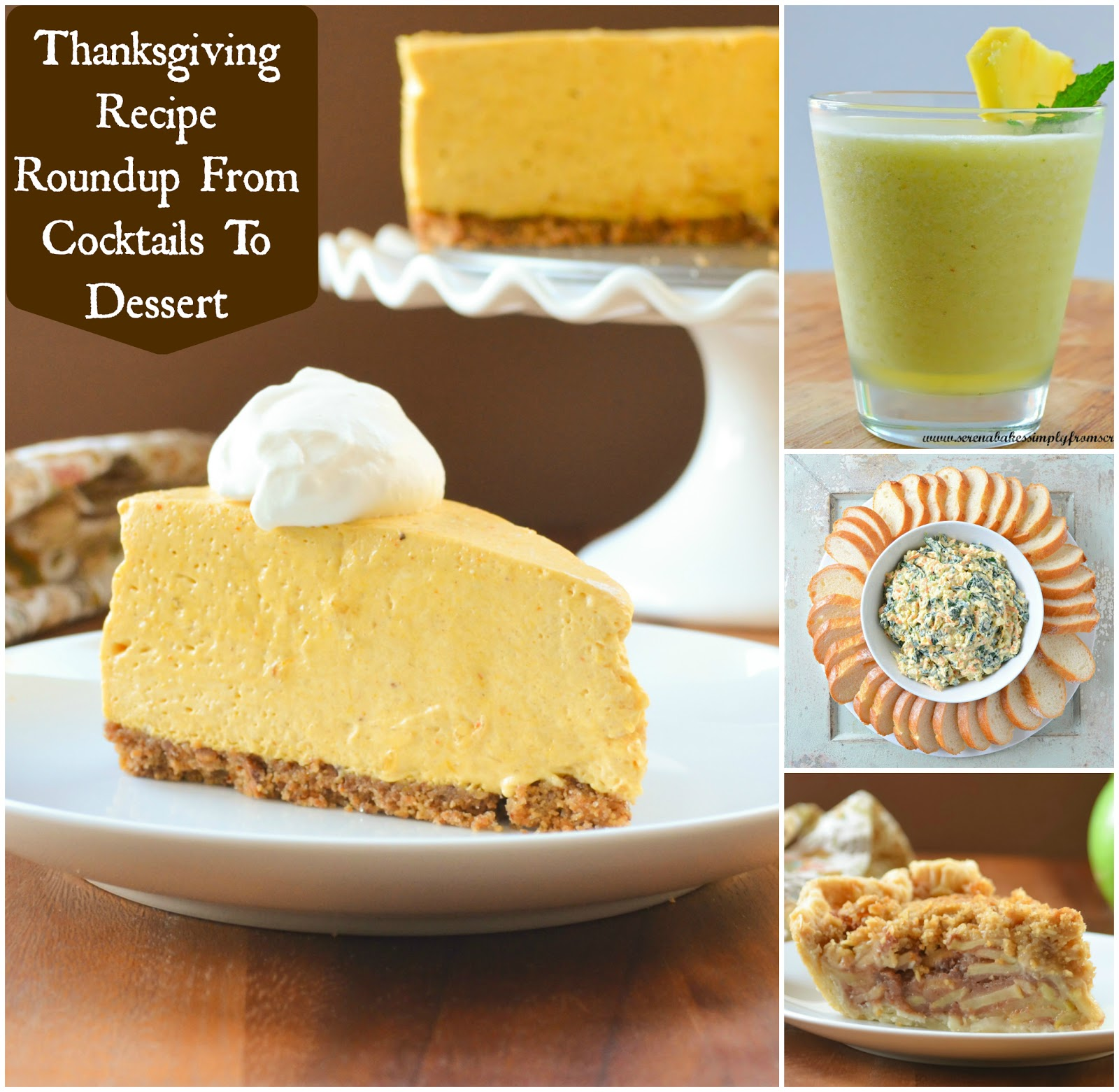 Thanksgiving Recipe Round  Up from Cocktails To Dessert