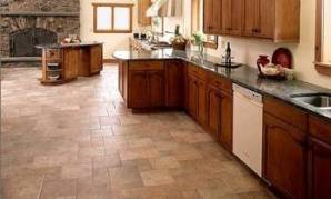 Fresh Kitchen Floor Ideas Using Cork