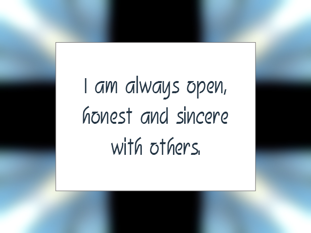 INTEGRITY affirmation