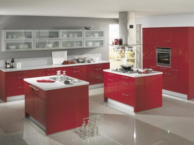 la couleur rouge dans la decoration dintrieur home sweet home cuisine couleur rouge brique - Cuisine Couleur Rouge Brique