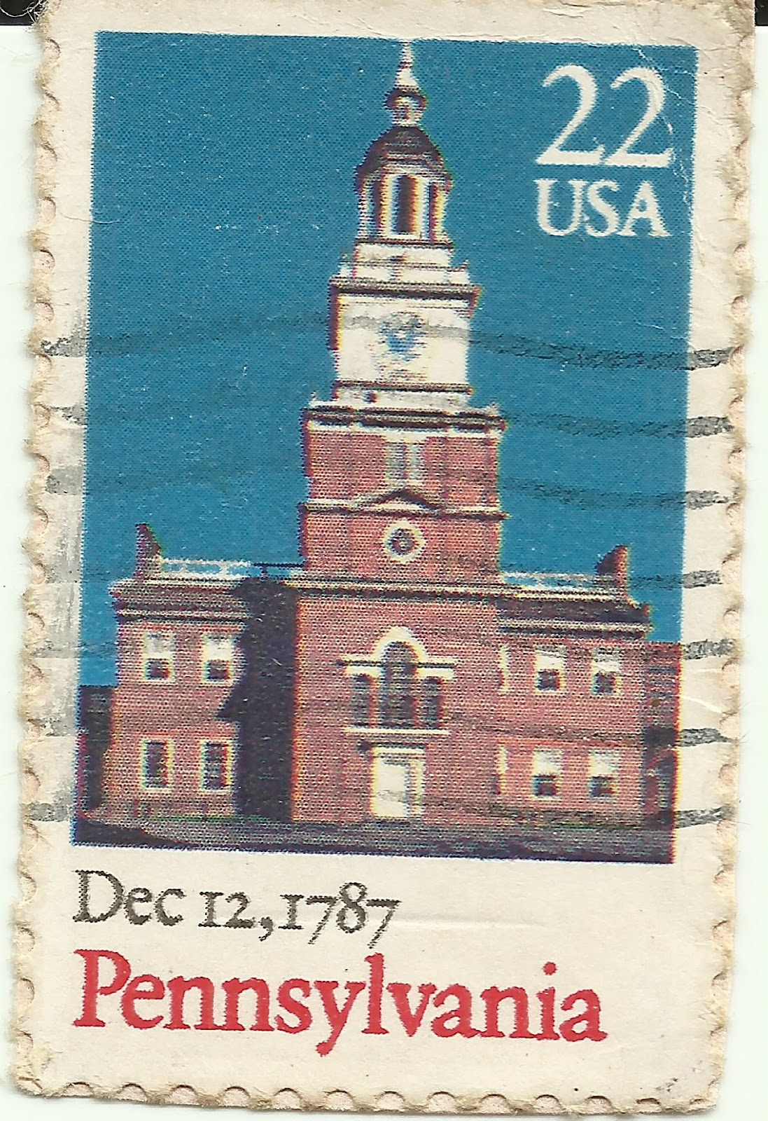 I Am No Stamp Collector US Stamp Pennsylvania Dec 12
