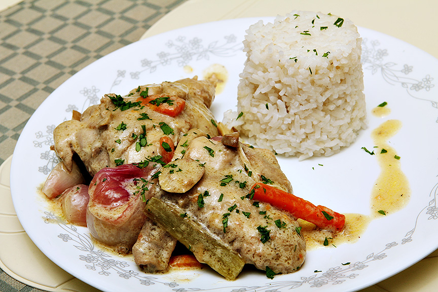 Classic French Chicken Fricassee Recipes — Dishmaps