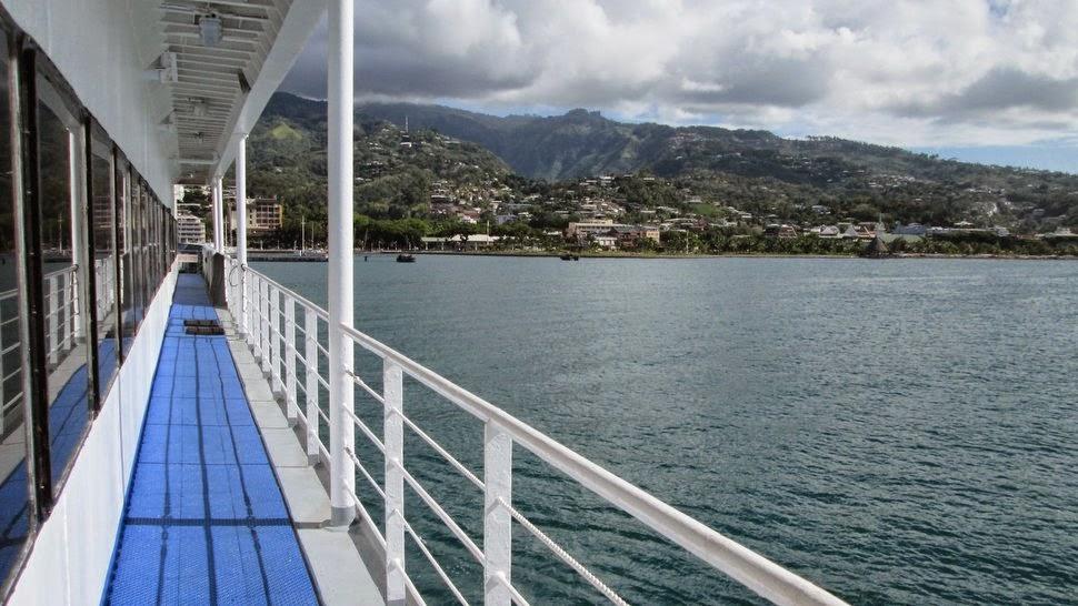 La rade de Papeete à Tahiti