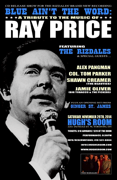 The Rizdales CD release @ Hugh's Room, Nov 29