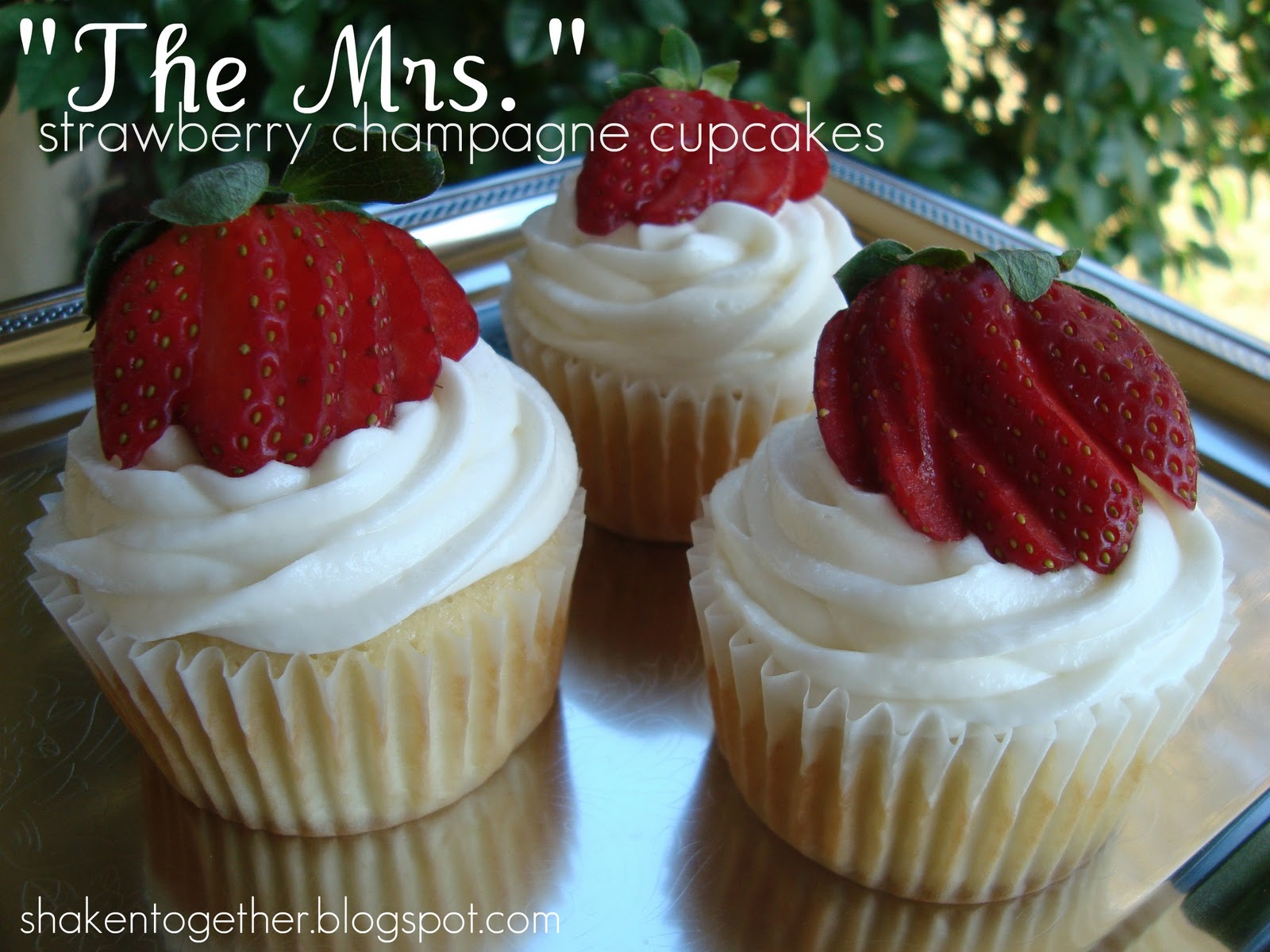 The Mrs Strawberry Champagne Cupcake