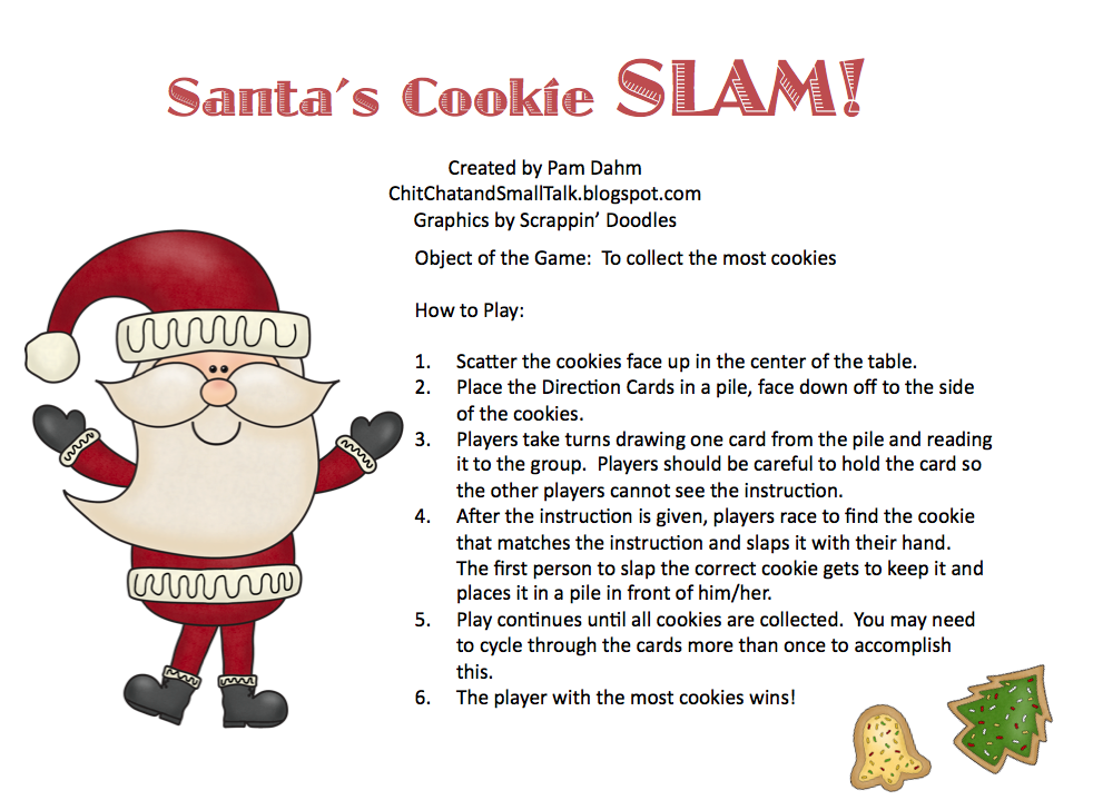Chit Chat and Small Talk: Santa's Christmas Cookie Slam! Card Game