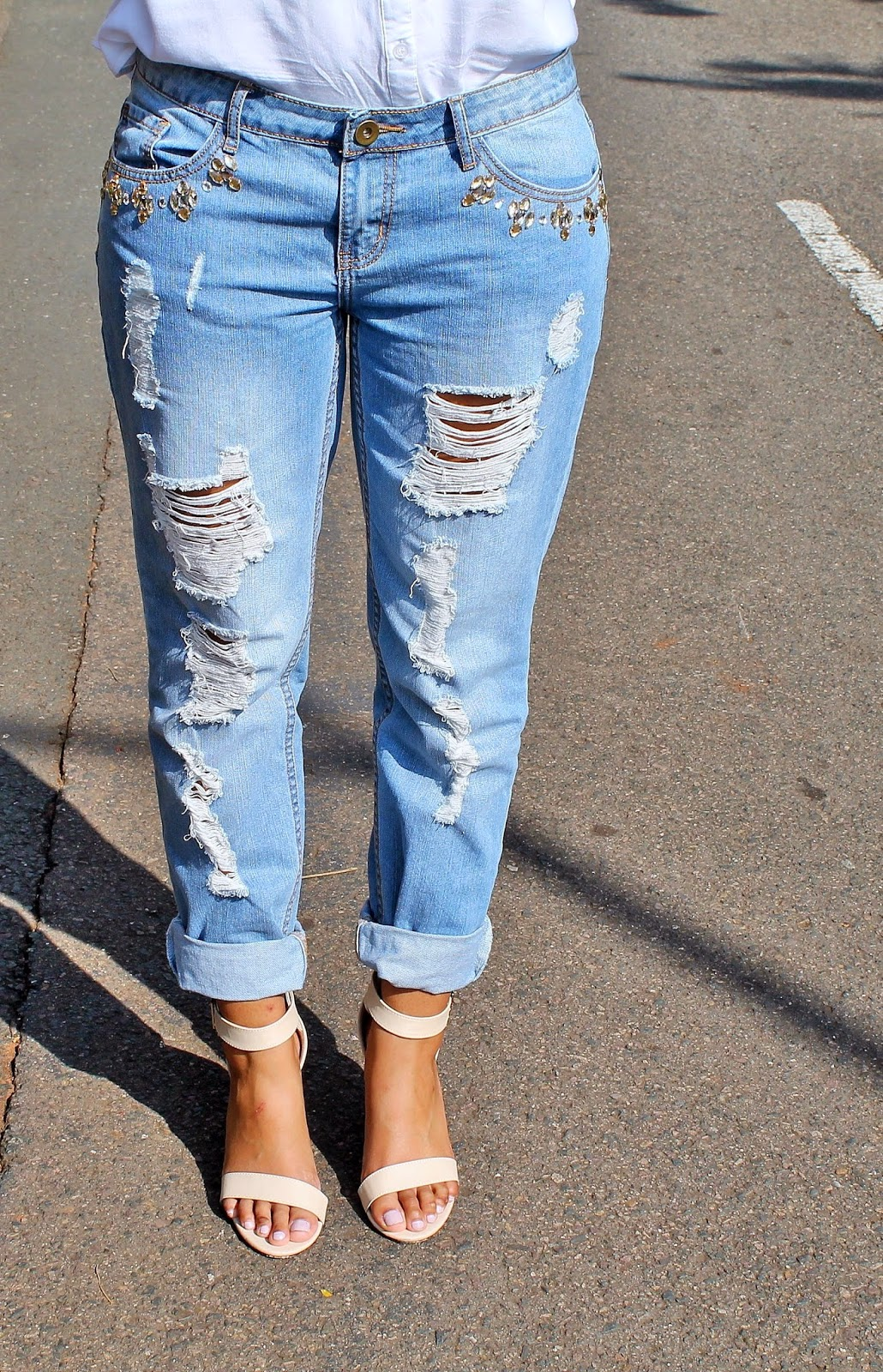Kotton&Silk: Crisp White & BF Jeans