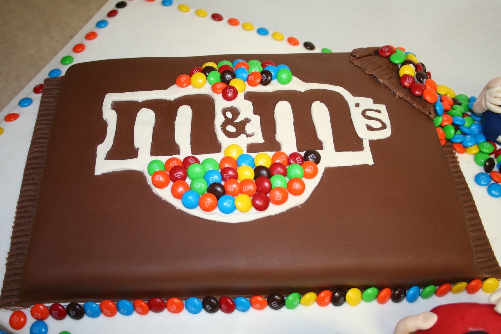 Birthday Cake That Looks Like Bag Of M Ms