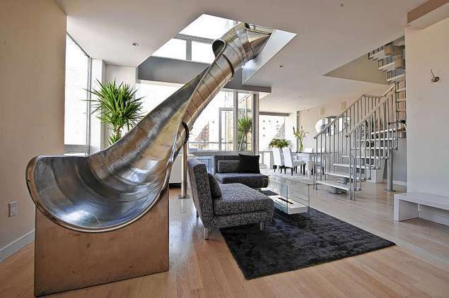 Izi designing glissade dans la maison for Glissade interieur