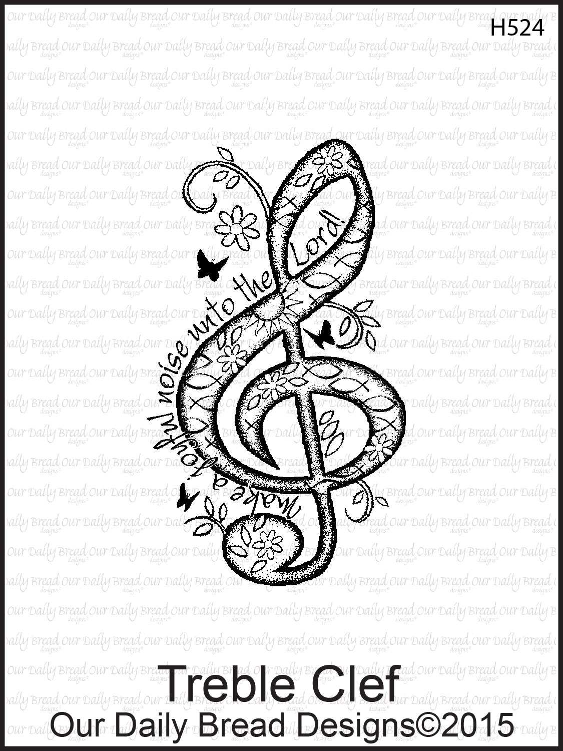 Stamps - Our Daily Bread Designs Treble Clef
